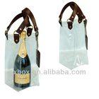 clear plastic wine bottle cooler bags