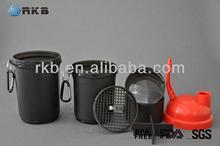 16OZ Plastic Sports Protein Nutrition Shaker Blender Drinking Bottle (SHK-003)