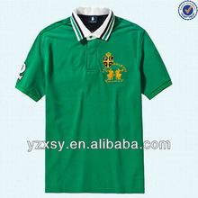 2015 customed embroidered uniform polo shirt for man and boys in bulk