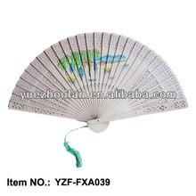 Costomized sandalwood wood fan