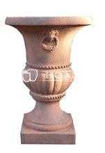 Old Stone Urn, Large Outdoor Sandblast Pot