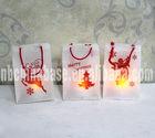 Xmas Gift Bag with Led Tea Light