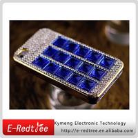 Blu rhinestones crystal mobile back cover