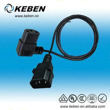 AC Power Cord Cable Angled Plug IEC C13 Male to Female Plug Cord