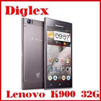 "Original New Lenovo K900 16GB Android 4.2 Intel CPU 2.0GHz 5.5"" screen 1GB RAM 3G GPS Mobile phone"
