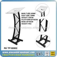 Steel hotel rostrum, design of acrylic rostrum lectern desk for sale