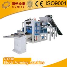 SUNITE QT6 perforated Block Forming Machine/interlock bricks manual making machine