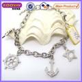 Semi joyas en china! Rojo de cristal de diamante de imitación de la galjanoplastia de plata pulsera hipanema #3775
