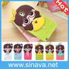 Korea style Cute Cartoon Silicon Case 3D Cute Little Bush Girls Soft Cover case For samsung galaxy note 3