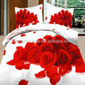 pembe gül 3d baskı yatak seti 4 adet çarşaf