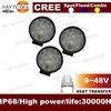 jeep car lighting source 24W LED work light round
