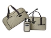 Beige hot selling and light weight for travel trolley bag set