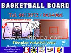 Basketball Fiberglass Backboard with Snap back Ring & Net Heavy Duty