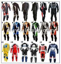 Motor Bike Leather Jacket+Trouser+Boots+Gloves