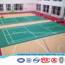 Good Flexibility Indoor Used PVC Sports Flooring for Badminton Court, Basketball Court etc