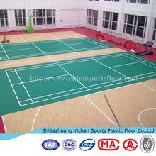 Good Flexibility Indoor Used PVC Sports Flooring for Badminton Court, Basketball Court etc