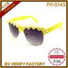 FK-0143 2014 cheap new novelty children sunglasses with flower on frame