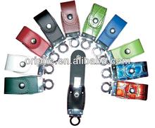 High quality keyring leather usb flash drive, oem pendrive