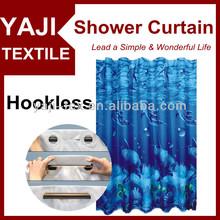 Customized Print Hookless Shower Curtain