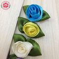 1-74 cinta de colores de flores de tulipán hechos a mano de flores de raso