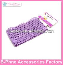 Crochet elastic material neon color wide headband
