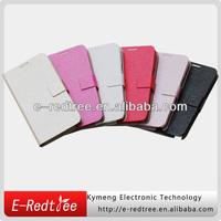 Latest elegant stand leather flip mobile back case cover for Samsung S4