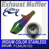 Iridium color Stainless muffler FCMUN100