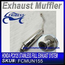 For Honda pcx 125 Stainless full Exhaust system FCMUN155