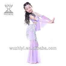 Latest Belly Dance Kids Costumes,Lovely Popular Belly Dance Wear,Belly Dance Children Performance Dress (QC2123)