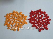 Customized red coaster /felt coaster