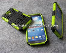 Kickstand PC TPU hybrid case for Samsung Galaxy S4 I9500, 50pcs to start