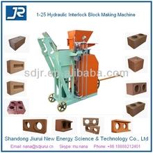1-25 good price semi-automatic clay interlock brick making machine