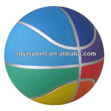 multicolor rubber basketball