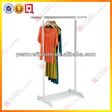 Retail clothing shop used clothing adjustable display racks