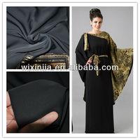 Triple standard Formal Black Fursan fabric for Abaya