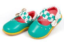 Velcro design girls baby hard sole walking shoes wholesale