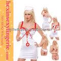 venta al por mayor de carnaval mujer de color rosa de sexo caliente traje de la enfermera vestido