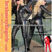 wholesale zentai wet look black pvc bodysuit