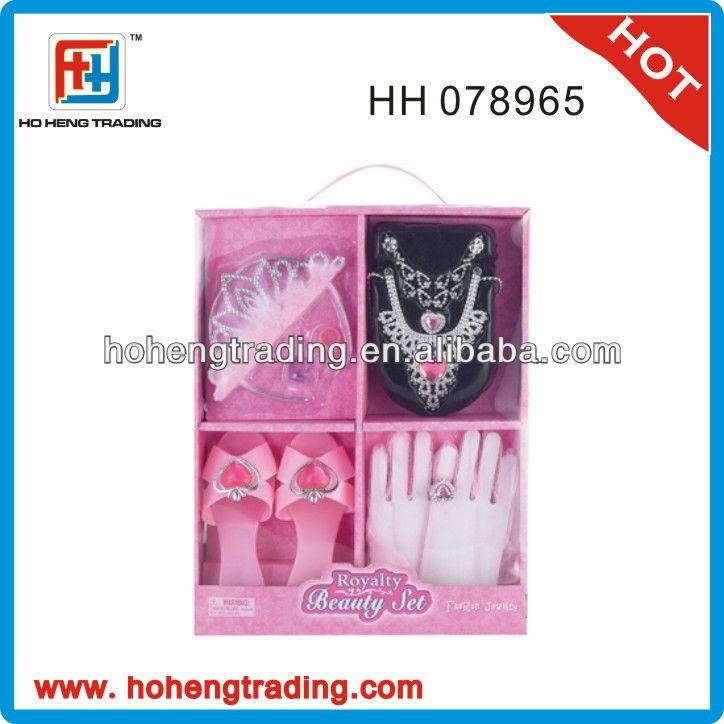 Hot girls fashion pink beauty set toy