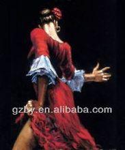 2014 Burlesque - Original Painting in Enamel on Canvas - Dancer Pin-Up Erotica