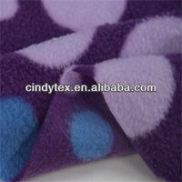 150d drapery brushed 100% polyester anti pilling dot print thick polar fleece fabric