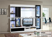 WOODEN LED TV WALL UNIT MODERN DESIGNS 6662