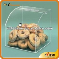 hign quality customized transparent acrylic counter cake display stand,dispaly cabinet