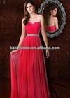 2013 Sexy New Red Sweetheart Chiffon Overlay Ruffles Prom Dresses Rhinestones Beaded Waistband Evening Dresses 35565