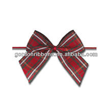 Plaid Ribbon Trims Wholesale,check ribbon bow, pcking bow