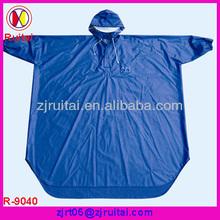 0.20mm blue PVC raincoat of bicycle