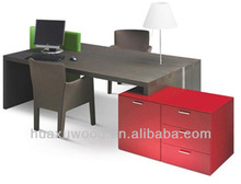 HX131118-MZ215 fashionable double side office desk with side storage cabinet