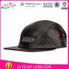 2014 Fashion Style OEM 5 Panel Cap Custom/Black Snake Skin 5 Panel Cap Custom