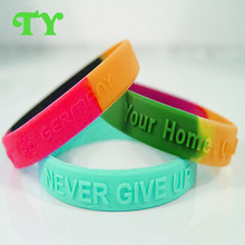 2015 mercy prominent thin festival silicone wristband with your home logo