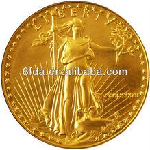 Hot sale custom gold metal coins